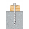 Montagebild BTS B Sechskantkopf mit großer Scheibe für den Holzbau gemäß DIN 440